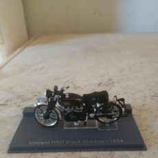 Motos em escala: MOTO MINIATURA - VINCENT HRD BLACK SHADOW - 1954. Lote 81735540