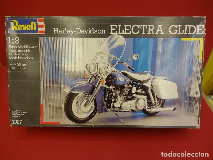 Motos a escala: HARLEY DAVIDSON Electra Glide. Maqueta a escala 1:8. Marca REVELL. VER FOTOS - Foto 3 - 85736712