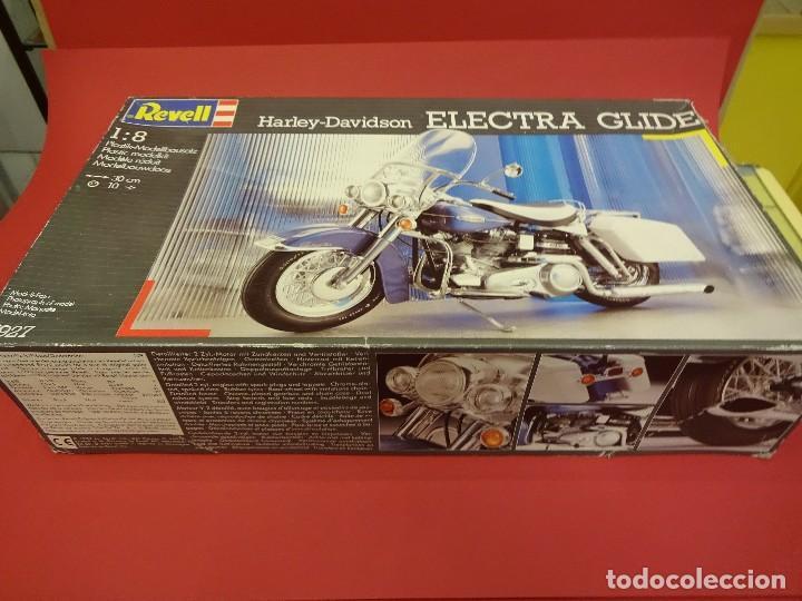 Motos a escala: HARLEY DAVIDSON Electra Glide. Maqueta a escala 1:8. Marca REVELL. VER FOTOS - Foto 4 - 85736712