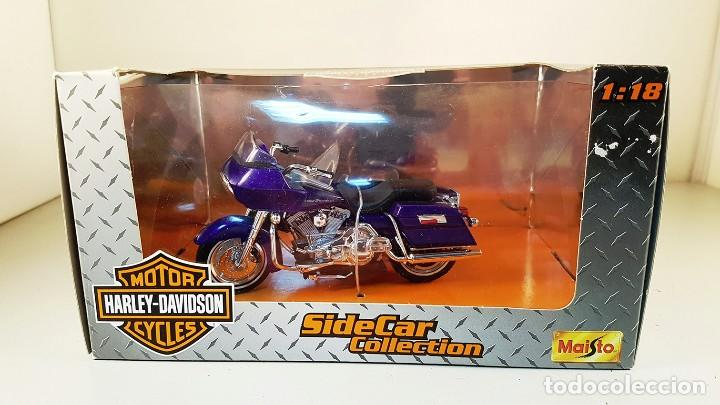 Moto harley davidson sidecar collection  escala - Sold at