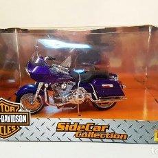 Motos a escala: MOTO HARLEY DAVIDSON SIDECAR COLLECTION. ESCALA 1:18.. Lote 87491852
