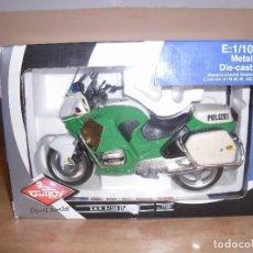 Motos a escala: MOTO BMW R-1100 RT POLIZEI. GUILOY. REF. 17281. ESCALA 1/10. NUEVO EN CAJA. Lote 90174900