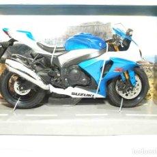 Motos a escala: SUZUKI GSX R 1000 ESCALA 1/12 JOYCITY MOTO MINIATURA METAL. Lote 92690724