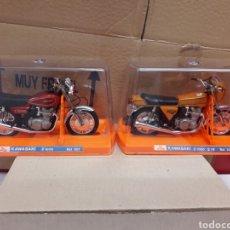 Motos a escala: 2 MOTOS GUILOY GRANDES KAWASAKI Z1000 Y Z1000 Z1R REF. 500 Y 501 NUEVAS EN CAJA. Lote 93998934