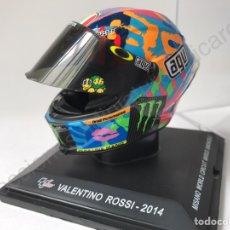 Motos a escala: VALENTINO ROSSI 2014 - CASCO AGV MOTO GP - MISANO WORLD MARCO SIMONCELLI -1/5 IXO (ALTAYA). Lote 77355218
