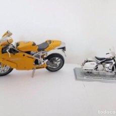 Motos a escala: HARLEY DAVIDSON FLH ELECTRA GLID 1970 Y DUCATI 999.. Lote 95039887