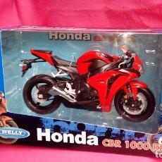Motos a escala: MOTO HONDA CBR 1000 RR ESCALA 1:10 WELLY ROJO APROX 21 CTM. Lote 104436979