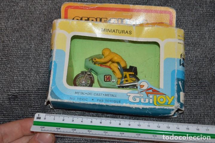 Motos a escala: ANTIGUA MOTO YAMAHA - GUILOY SERIE PULGA - EN CAJA ORIGINAL - DIE CAST - REF. 175000 - VINTAGE - Foto 13 - 107745659