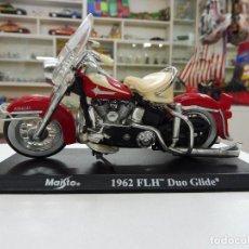 Motos a escala: MAISTO 1962 FLH DUO GLIDE HARLEY DAVIDSON MOTO. Lote 109561771