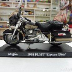 Motos a escala: MAISTO 1998 FLHT ELECTRA GLIDE MOTO HARLEY DAVIDSON. Lote 109563995