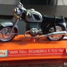 Motos a escala: GUILOY- BMW BICILINDRICA 750 CC CON ESTUCHE Y CATALOGO. Lote 115709367