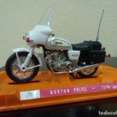 Motos a escala: MOTO NORTON POLICE DE GUILOY -ESCALA 1:18-. Lote 117928255