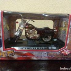 Motos a escala: MOTO CUSTOM AMERICAN DE GUILOY -ESCALA 1:18- REF 15560 -NUEVA-. Lote 118864619