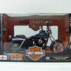 Motos a escala: HARLEY DAVIDSON 2004 DYNA SUPER GLIDE SPORT - MAISTO H-D CUSTOM ESCALA 1:12 - MOTO MOTOCICLETA. Lote 119896199
