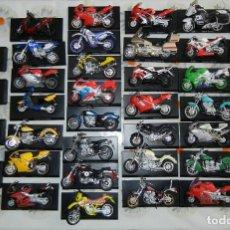 Motos a escala: LOTE 38 SUPER MOTOS MAISTO A ESCALA (COL. SUPER MOTOS) + PEANAS. Lote 131136593
