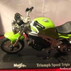 Motos a escala: MOTO TRIUMPH SPEED TRIPLE MAISTO . Lote 120584467
