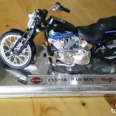 Motos a escala: HARLEY DAVIDSON - FXSTSB - BAD BOY - MAISTO. Lote 121905679