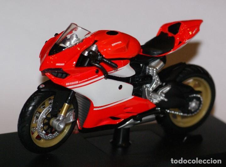 Motos a escala: MOTO DUCATI 1199 SUPERLEGGERA ESCALA 1:18 DE MAISTO EN SU CAJA - Foto 6 - 125344663