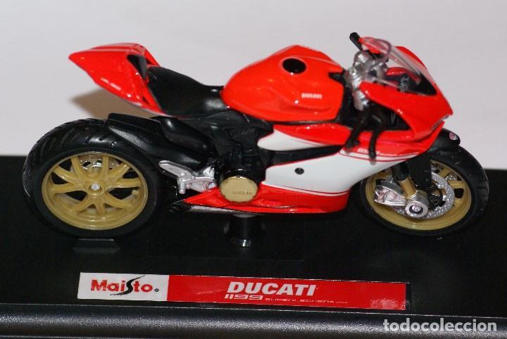 Motos a escala: MOTO DUCATI 1199 SUPERLEGGERA ESCALA 1:18 DE MAISTO EN SU CAJA - Foto 7 - 125344663