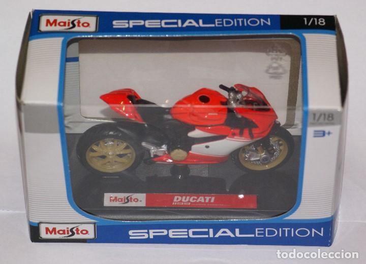 Motos a escala: MOTO DUCATI 1199 SUPERLEGGERA ESCALA 1:18 DE MAISTO EN SU CAJA - Foto 8 - 125344663