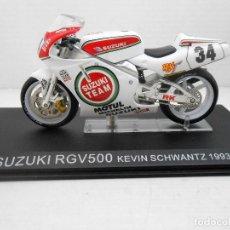Motos a escala: MOTO SUZUKI RGV500 RGV 500 KEVIN SCHWANTZ 1993 BIKE MOTORBIKE 1:24 1/24 MINIATURE MINIATURA. Lote 151333350