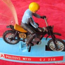 Motos a escala: MOTO CZ 250 - POLITOYS MT 15 - MOTOCICLETA CROSS - METAL - MADE IN ITALY. Lote 131171968