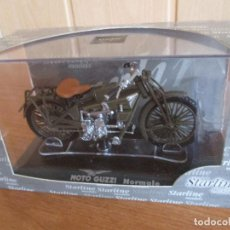 Motos a escala: MAQUETA STARLINE MOTO MILITAR ESCALA 1/24 EN BLISTER ORIGINAL: MODELO MOTO GUZZI NORMALE. Lote 131266887