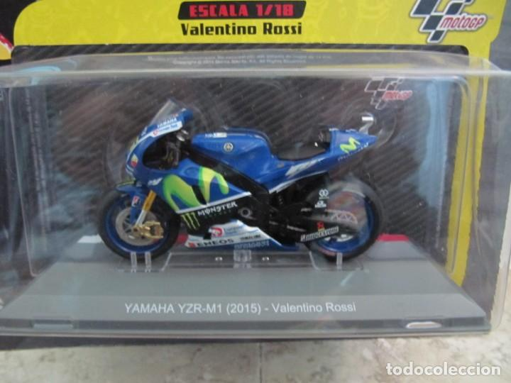 Motos a escala: Yamaha YZR-M1 2015 Valentino Rossi - Escala 1:18 - Foto 2 - 207596361