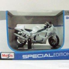 Motos a escala: MOTO SUZUKI GSX 1300R 1300 R HAYABUSA - MAISTO SPECIAL EDITION ESCALA 1:18 - DIECAST MINIATURA. Lote 196053247