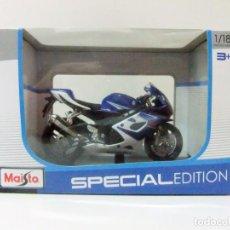 Motos a escala: MOTO SUZUKI GSX-R 1000 - MAISTO SPECIAL EDITION ESCALA 1:18 - DIECAST MINIATURA MOTOCICLETA. Lote 164045161