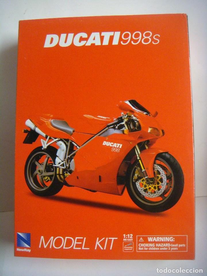 Motos a escala: MOTO MODEL KIT DUCATI 998 S ESCALA 1'12 (#) - Foto 2 - 137238146