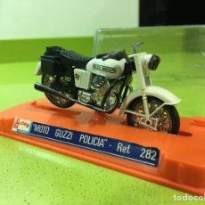 Motos a escala: MOTO GUZZI POLICÍA DE GUILOY N 282. Lote 138390981