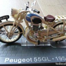 Motos a escala: PEUGEOT 55GL (1951)-MINIATURA NUEVA COLECCIONISMO ALTAYA. Lote 150745896