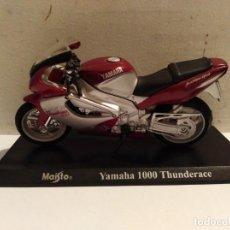 Motos a escala: MOTO A ESCALA MAISTO CON PEANA YAMAHA 1000 THUNDERACE. Lote 142650910