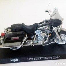 Motos a escala: HARLEY DAVIDSON FLHT ELECTRA GLIDE AÑO 1998 MAISTO ESC. 1,18 . Lote 142964378