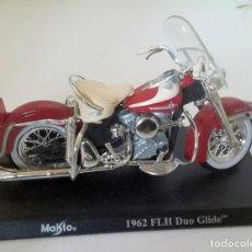 Motos a escala: HARLEY DAVIDSON, 1962 FLH, DUO GLIDE,MAISTO , ESCALA 1/18. Lote 142964538