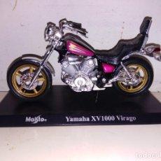 Motos a escala: MOTO A ESCALA MAISTO CON PEANA YAMAHA XV 1000 VIRAGO. Lote 143726678
