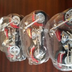 Motos a escala: 3 MOTOS A ESCALA HARLEY DAVIDSON. Lote 144090974