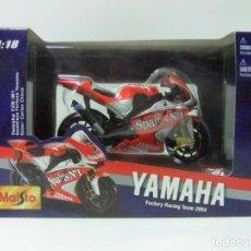 Motos a escala: YAMAHA YZR-M1 CARLOS CHECA GAULOISES FORTUNA TEAM 2004 MAISTO ESCALA 1:18 - MOTO GP MOTOCICLISMO. Lote 145498302