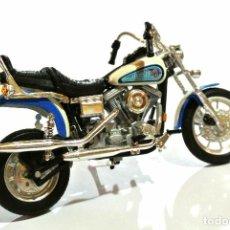 Motos a escala: MOTOCICLETA HARLEY DAVIDSON DAYTONA DYNA GLIDE, EDICIÓN MAISTO , 13 CMS. Lote 145744438