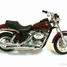 Motos a escala: MOTOCICLETA HARLEY DAVIDSON DYNA SUPER GLIDE , EDICIÓN MAISTO , 13 CMS. Lote 145784926