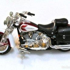 Motos a escala: MOTOCICLETA HARLEY DAVIDSON HERITAGE SPRINGER , EDICIÓN MAISTO , 13 CMS. Lote 145784942
