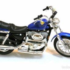 Motos a escala: MOTOCICLETA HARLEY DAVIDSON SPORTSTER 1200 EVOLUTION, EDICIÓN MAISTO , 13 CMS. Lote 145785250