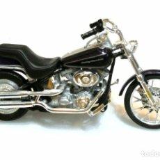 Motos a escala: MOTOCICLETA HARLEY DAVIDSON FXSTD DEUCE , EDICIÓN MAISTO , 13 CMS. Lote 145786066