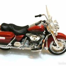 Motos a escala: MOTOCICLETA HARLEY DAVIDSON ELECTRA GLIDE ROAD KING , EDICIÓN MAISTO, 1:18, 1/18, NO A SIDO RODADA*. Lote 145804118