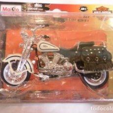 Motos a escala: REPLICA MOTO HARLEY-DAVIDSON - 1997 FLSTL HERITAGE SPRINGER - ESCALA 1:18 - NUEVA EN CAJA ORIGINAL. Lote 150572614