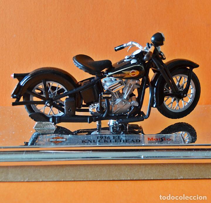 Motos a escala: HARLEY DAVIDSON - KNUCKLEHEAD 1936 EL - MAISTO - 1: 18 - EN SU CAJA - Foto 2 - 170709873