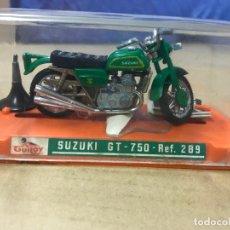 Motos a escala: MOTO DE GUILOY SUZUKI GT 750.- REF. 289 - MINIATURAS METALICAS - NUEVO EN SU CAJA COMPLETA. Lote 153879398