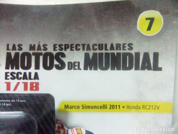 Motos a escala: MOTO HONDA RC212V 2011 MARCO SIMONCELLI + FASCÍCULO 7 MOTOGP ALTAYA PLANETA DEAGOSTINI ESCALA 1:18 - Foto 6 - 247171840