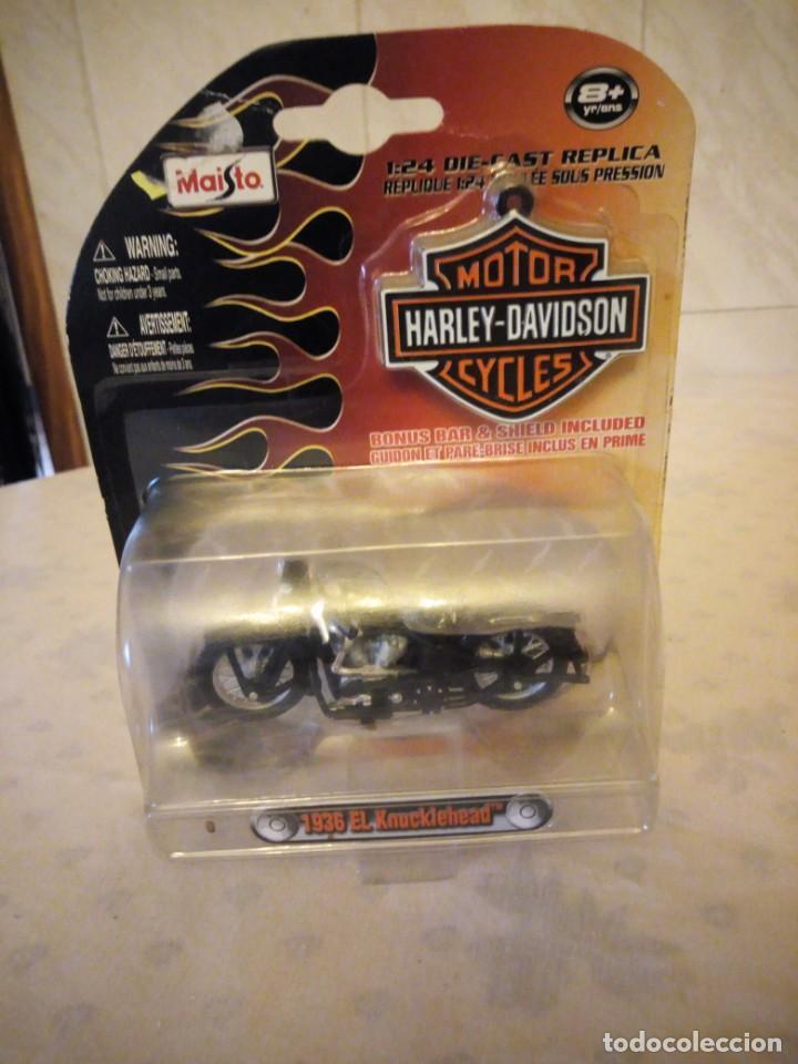 HARLEY DAVIDSON DIECAST 1936 EL KNUCKLEHEAD MAISTO 2009,1:24 (Juguetes - Motos a Escala)